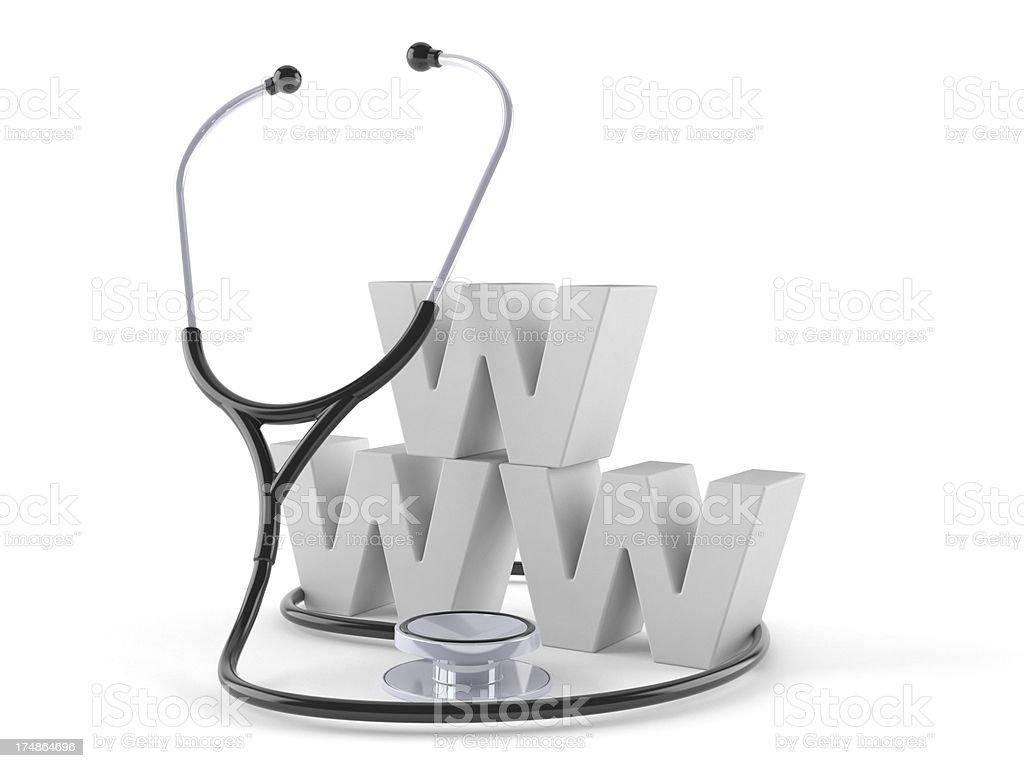 Medical web royalty-free stock photo