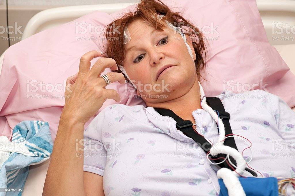 Medical: woman having a real seizure stock photo