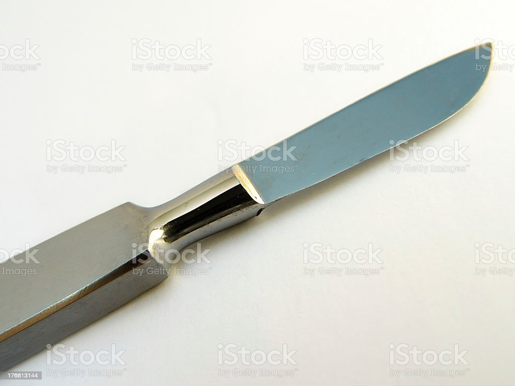 Medical/Science: scalpel. royalty-free stock photo