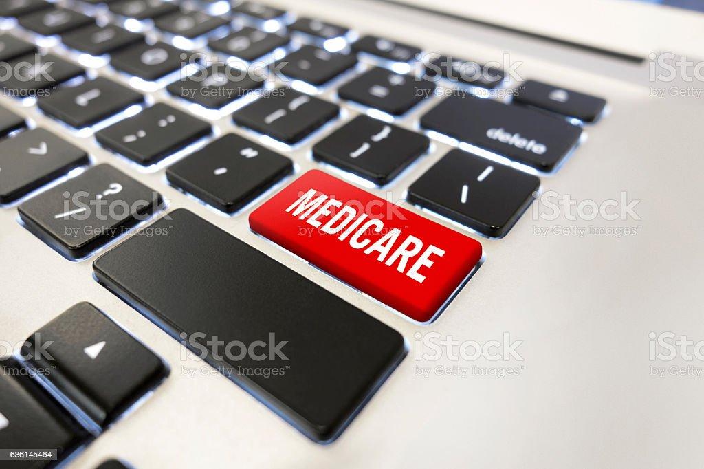 Medicare Button stock photo