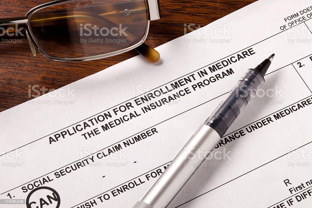 Medicare Enrollment Application royalty-free stock photo