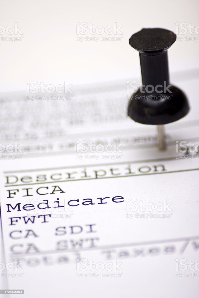 Medicare royalty-free stock photo