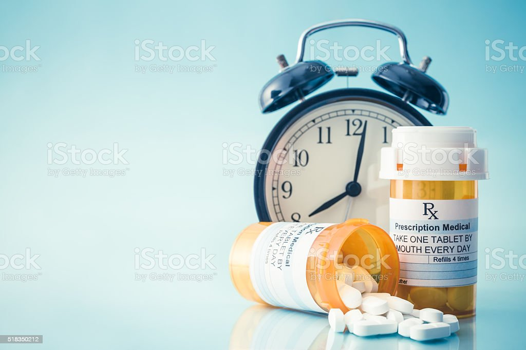 Medication time stock photo