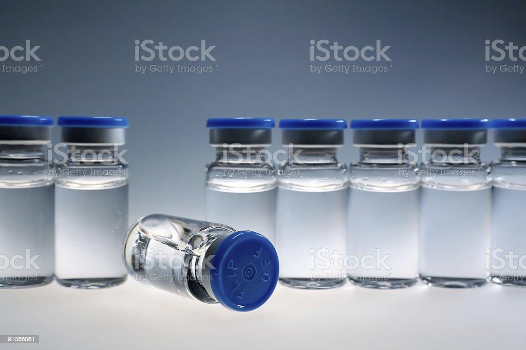 medication vials stock photo