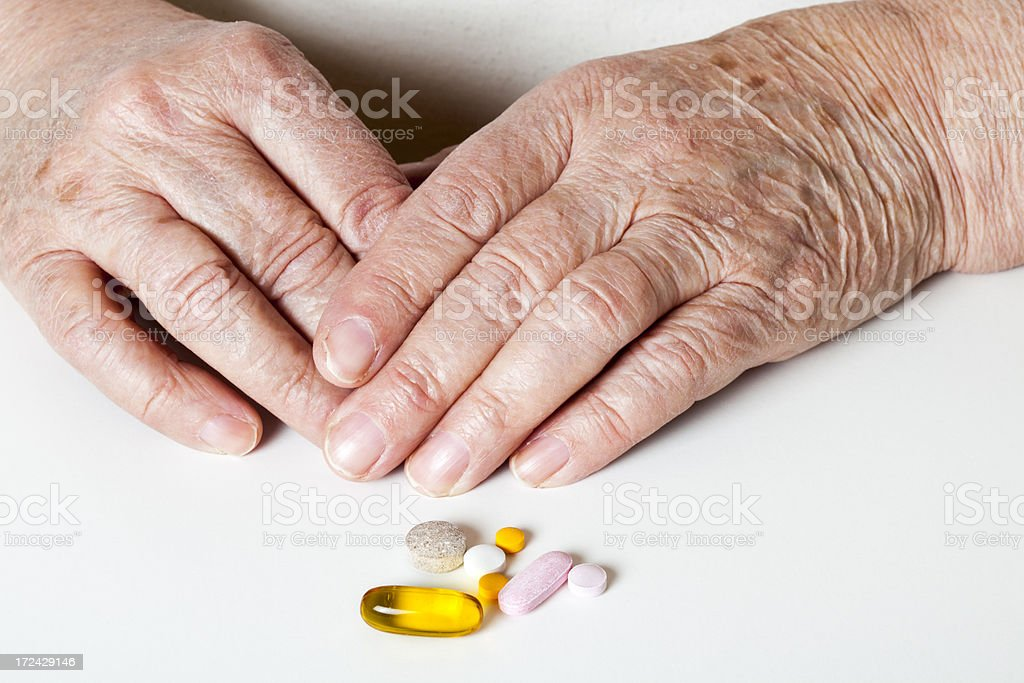 Medications for senior royalty-free stock photo