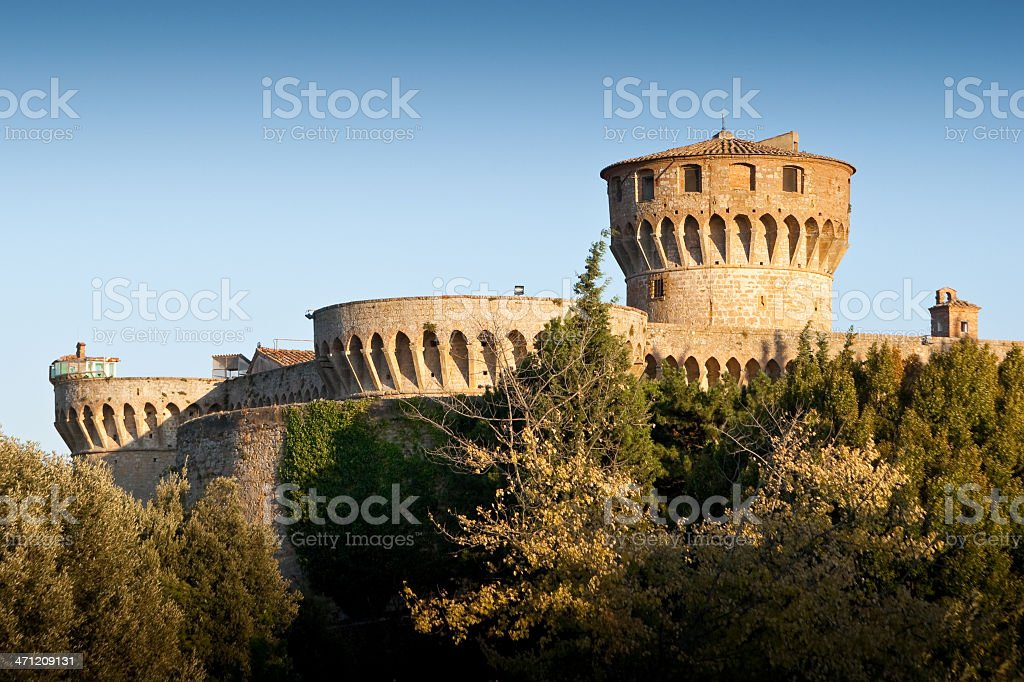 Medicean Fortress (Maschio) in Volterra, Italy stock photo