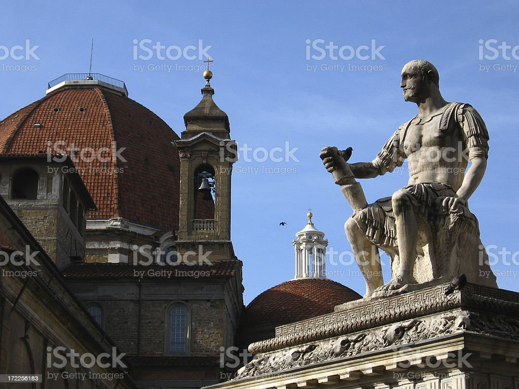 Medici Chapel and San Lorenzo- Florence, Italy royalty-free stock photo