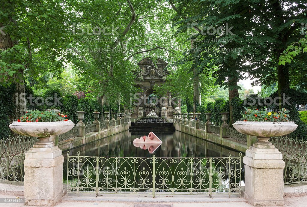 Medici Fountain in Luxembourg Gardens. Paris, France royalty-free stock photo
