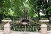 Medici Fountain in Luxembourg Gardens. Paris, France