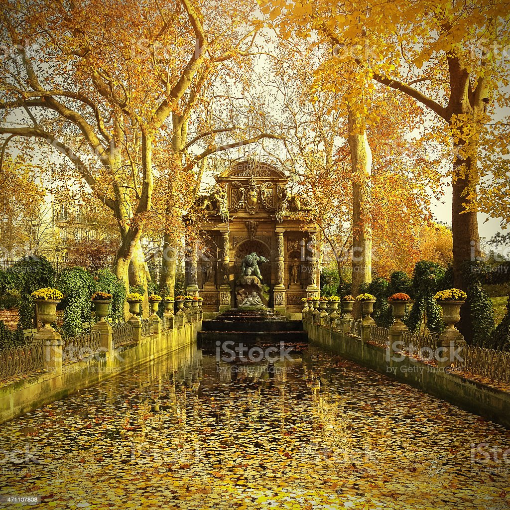 Medici Fountain stock photo