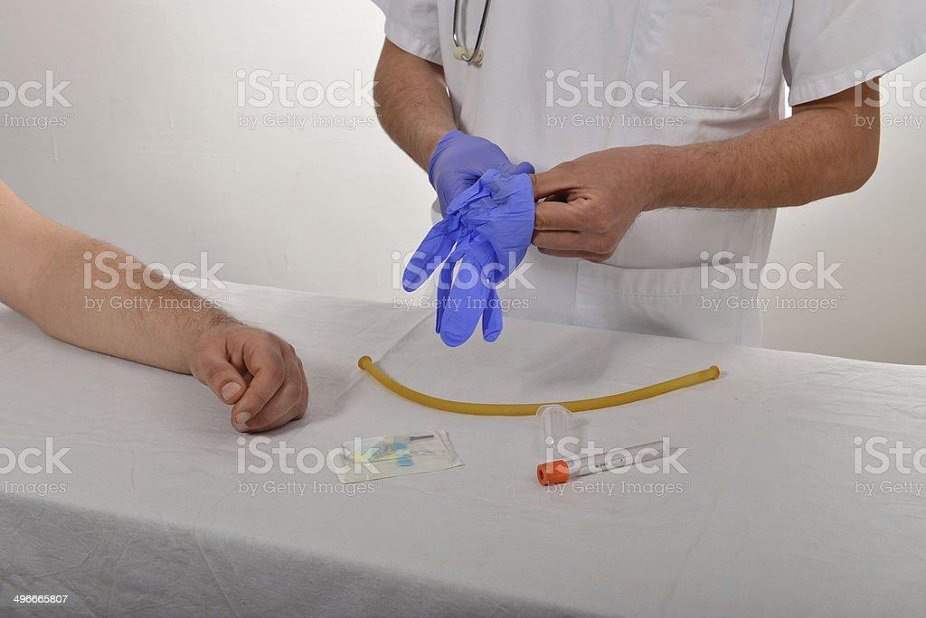 medicina analisi e provette stock photo