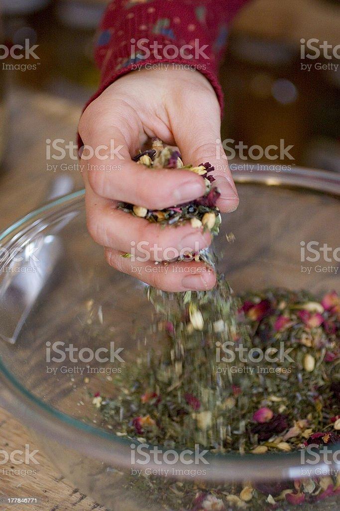 Medicinal Herb Mix royalty-free stock photo