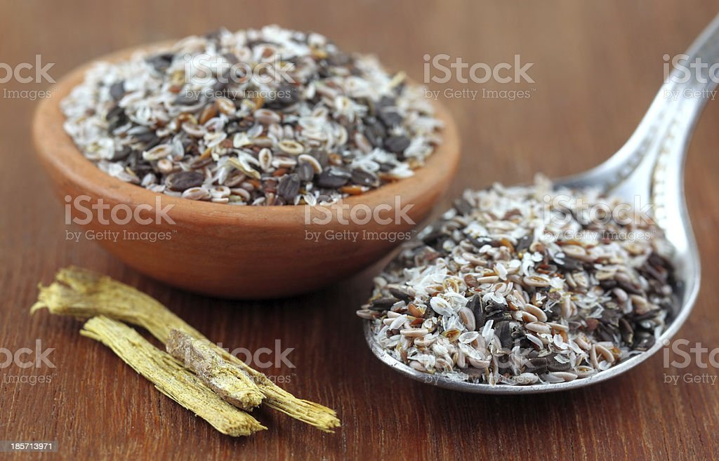 Medicinal herbs stock photo
