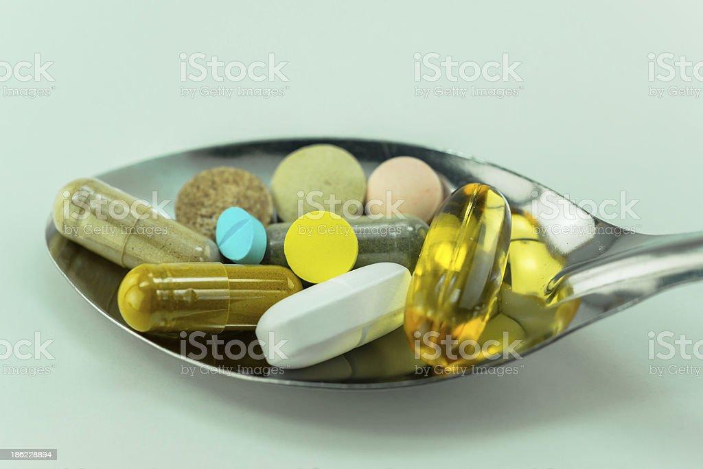 Medicinal tablets stock photo