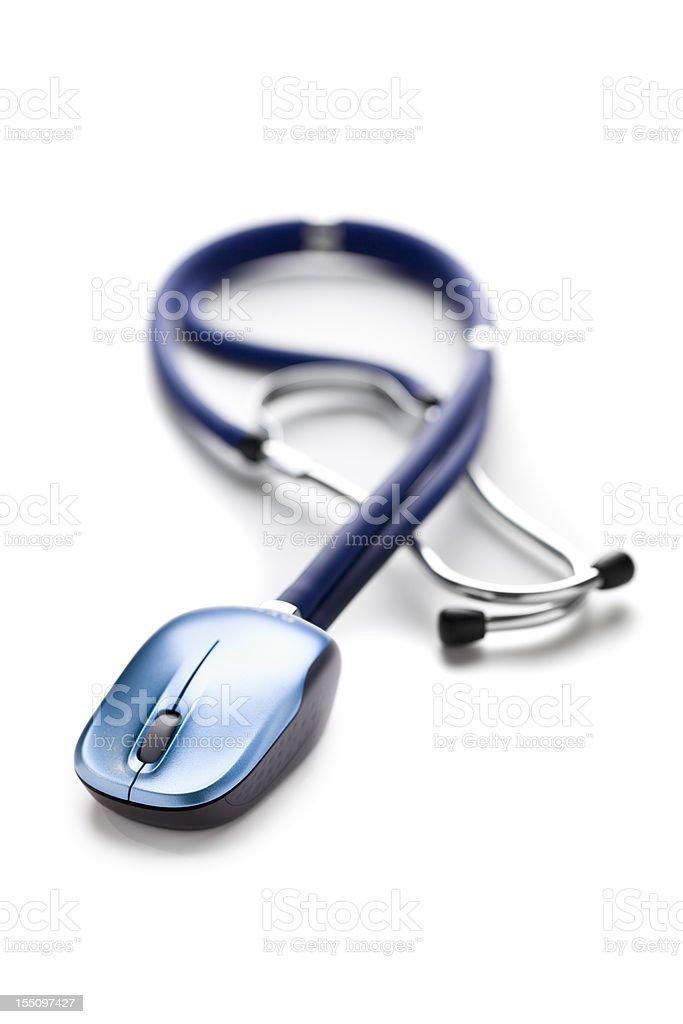 Medicine & Computing royalty-free stock photo