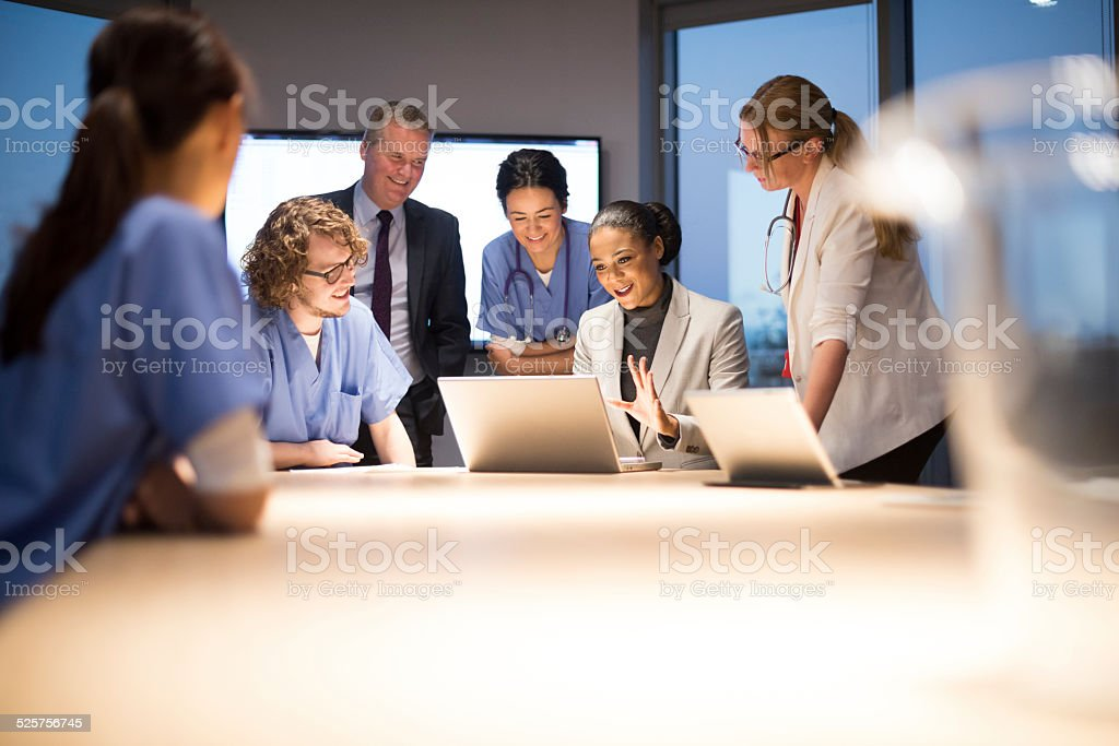 medicine and business stock photo