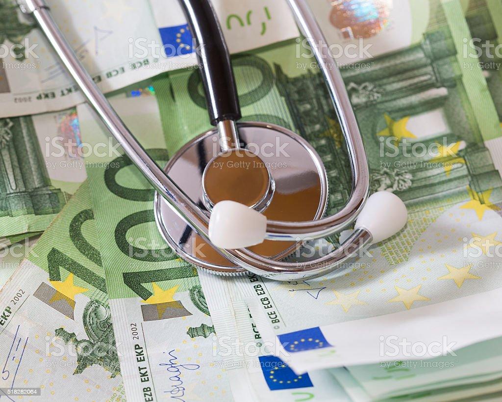 Medicine and money. stock photo