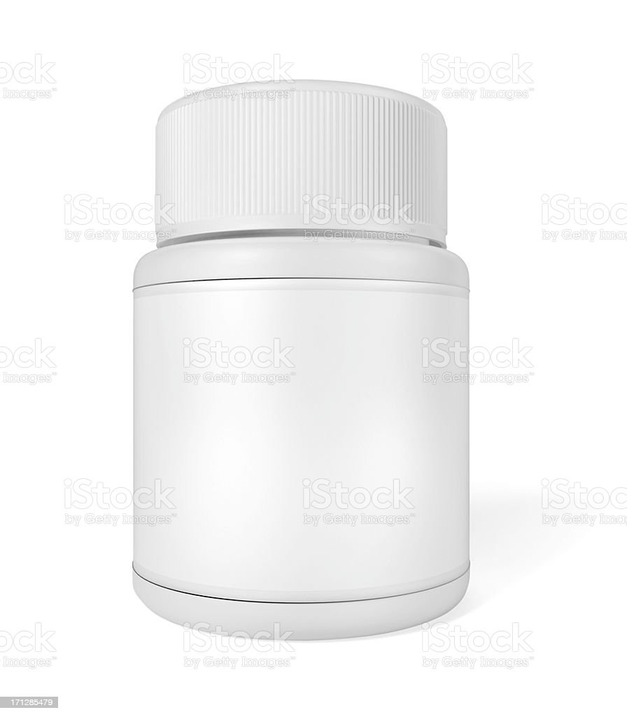 Medicine bottle isolated on white royalty-free stock photo