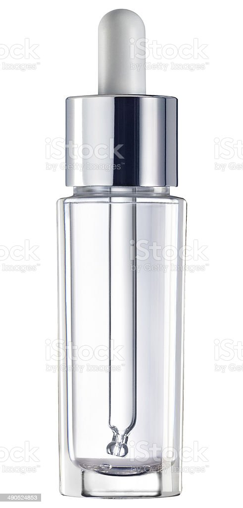 Medicine bottle with dropper stock photo