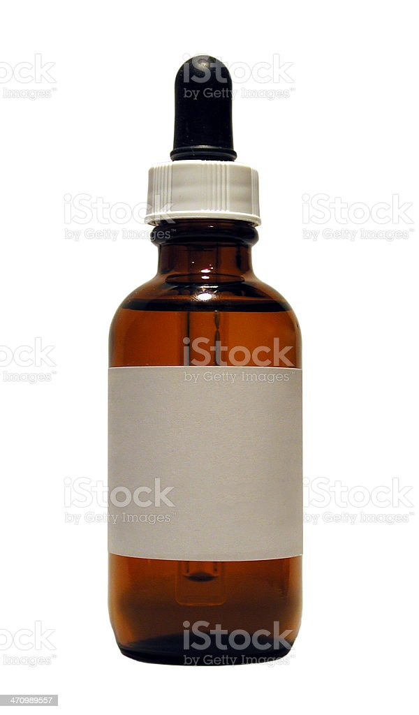 medicine bottle with eye-dropper stock photo
