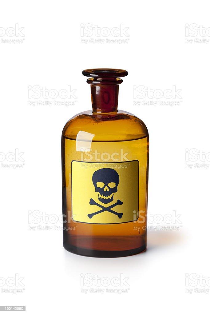 Medicine bottle with poisonous liquid stock photo