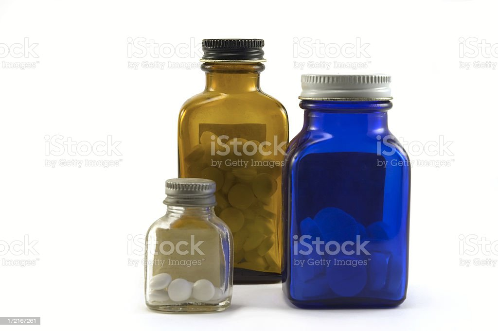 medicine bottles royalty-free stock photo