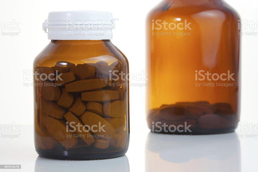 Medicine bottles stock photo
