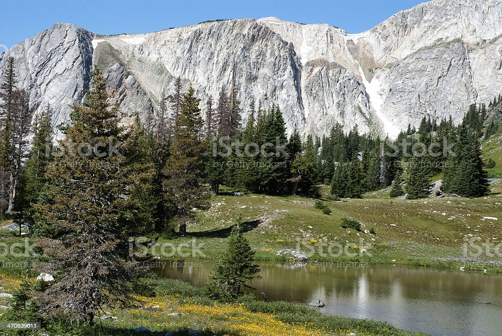 Medicine Bow Mountains Lakes and Glacial Erosion Wyoming stock photo