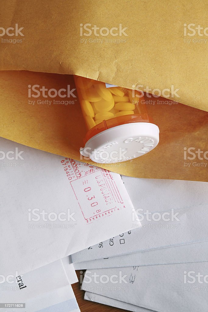 Medicine by Mail stock photo