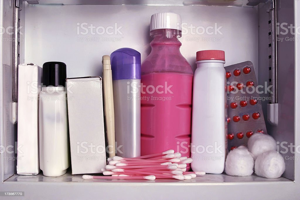Medicine Cabinet: Wide royalty-free stock photo