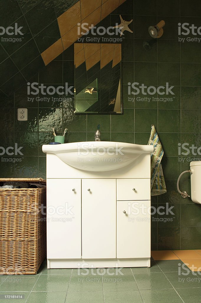 Medicine Cabinet with a Sink royalty-free stock photo