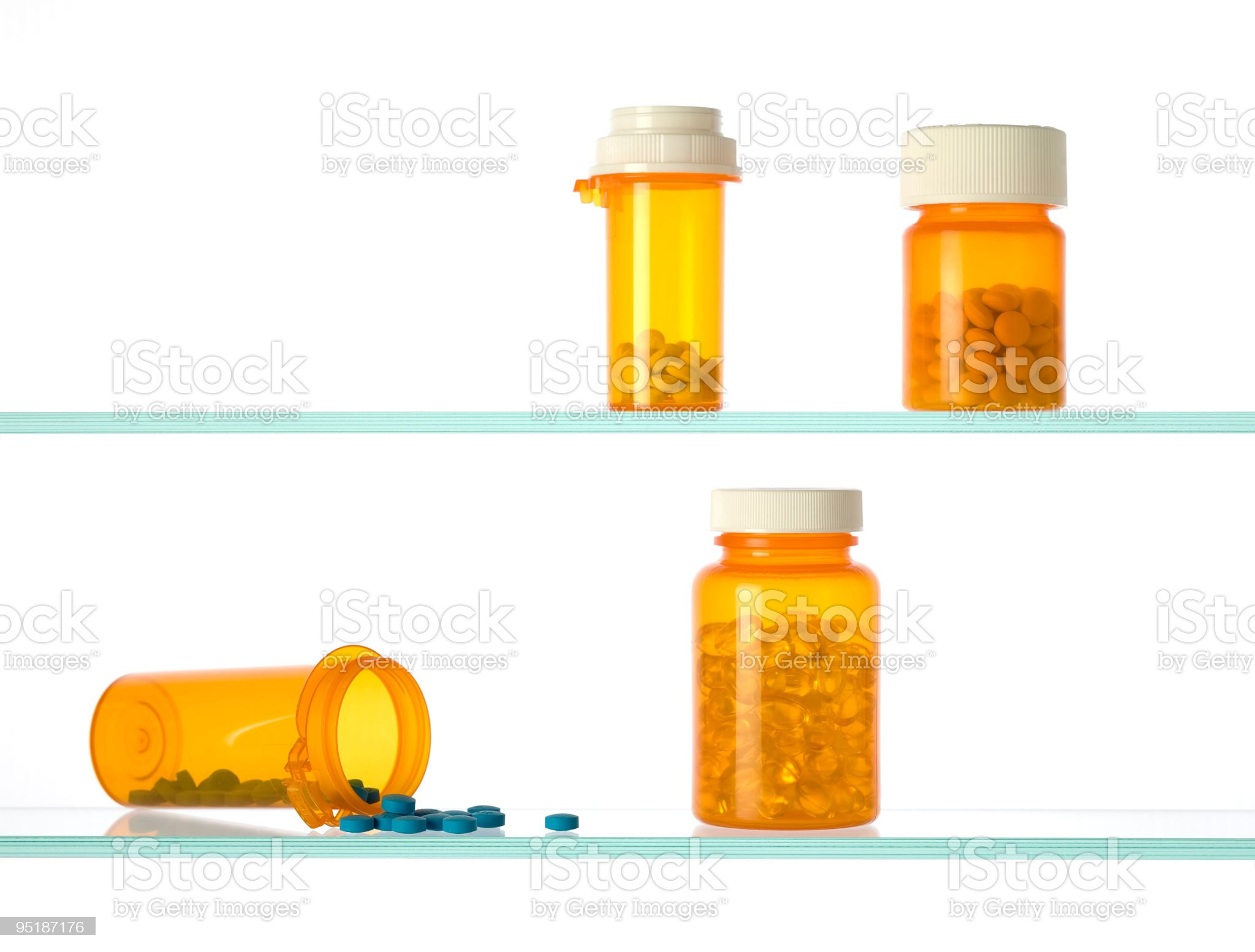 medicine cabinet with pill bottles royalty-free stock photo