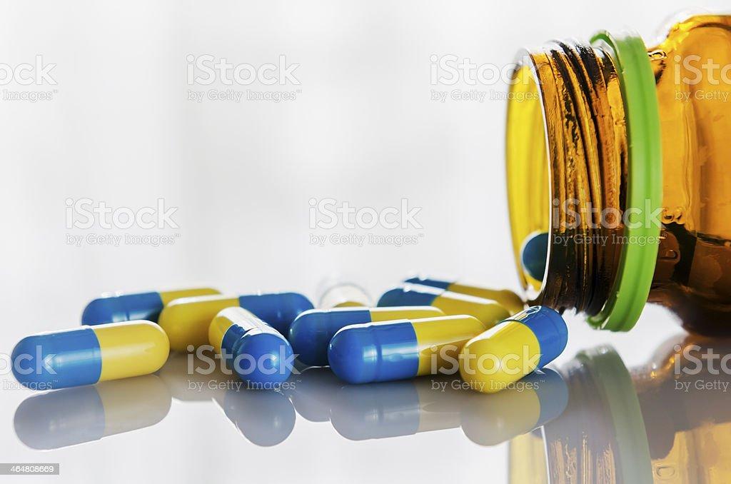 Medicine capsule stock photo