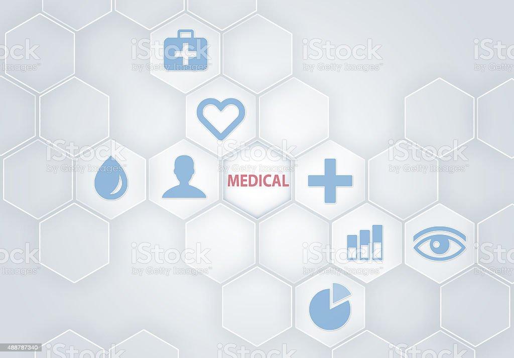Medicine concept / Computer icons (Click for more) stock photo