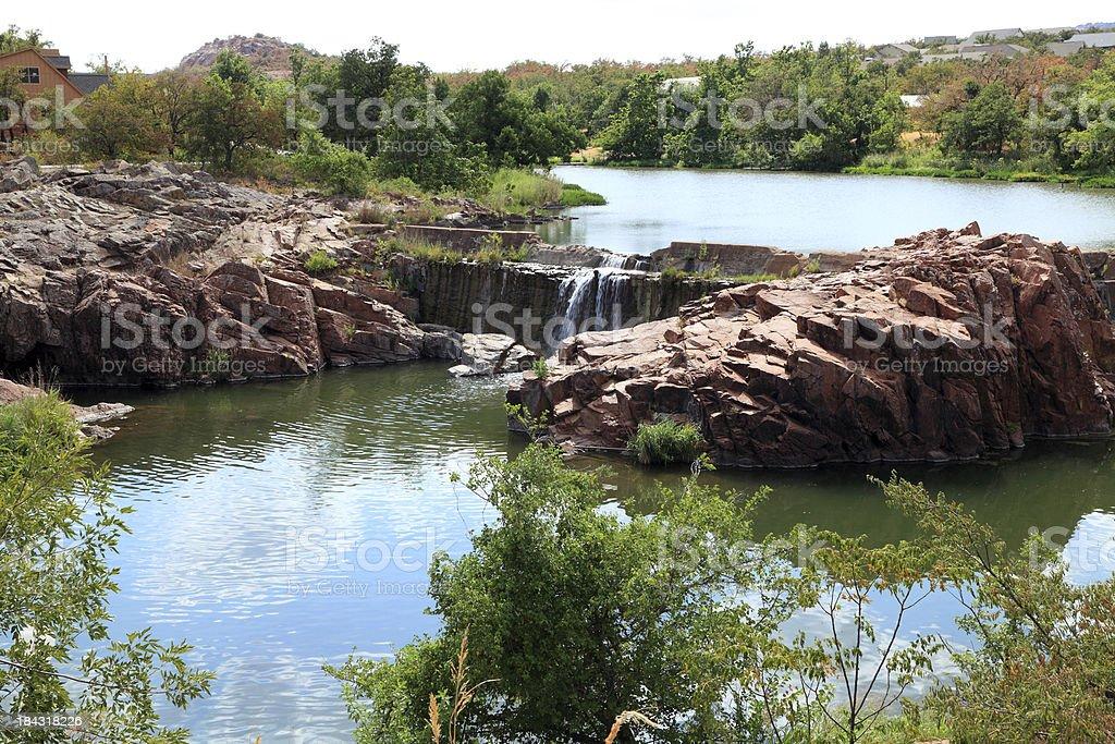 Medicine Creek Waterfall stock photo
