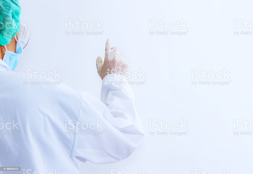 Medicine doctor hand working. stock photo