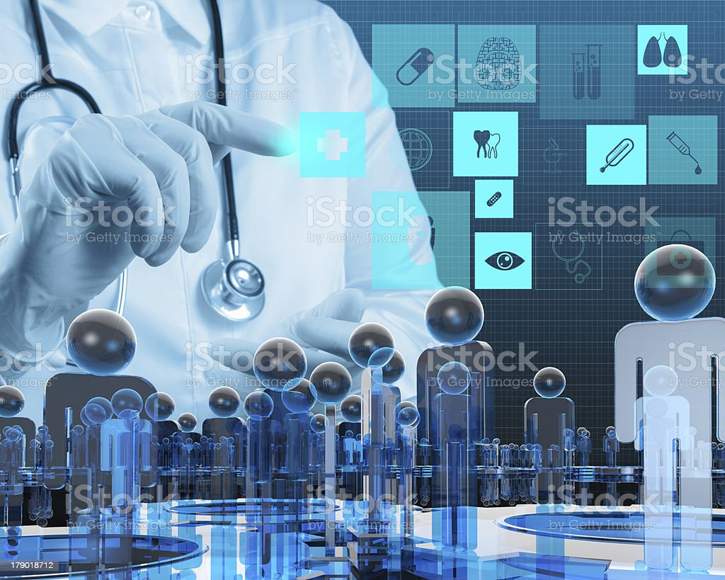 Medicine doctor working with modern computer royalty-free stock photo