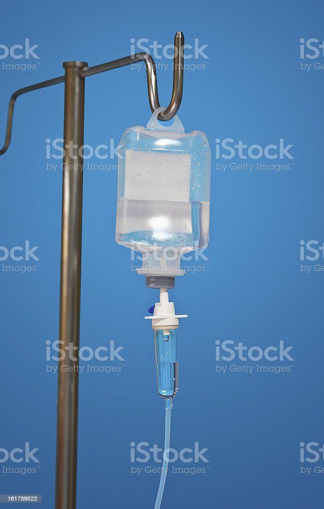 Medicine dropper With an antibiotic on blue royalty-free stock photo