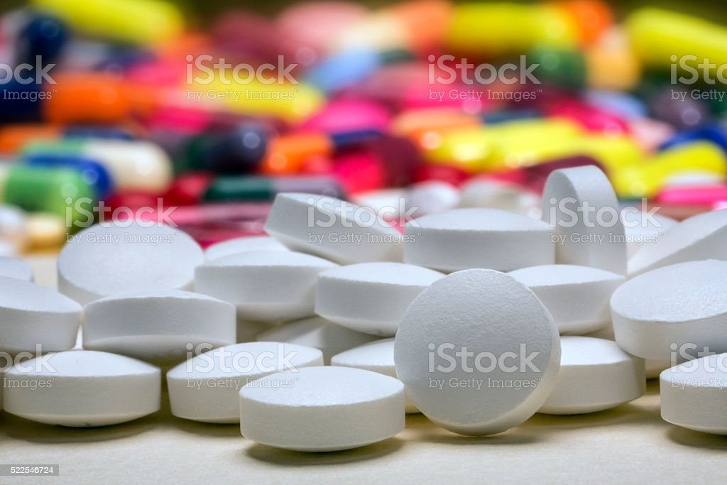 Medicine - Drugs Pills Tablets stock photo