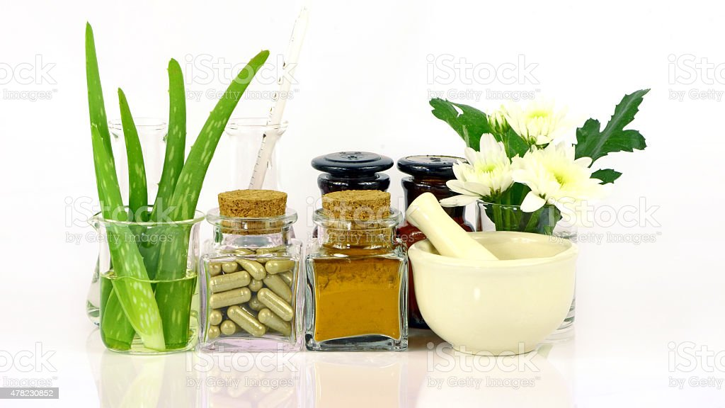 Medicine from natural products. stock photo