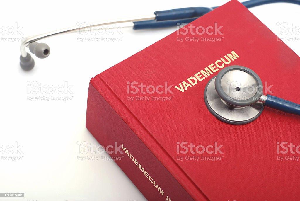 Medicine handbook royalty-free stock photo
