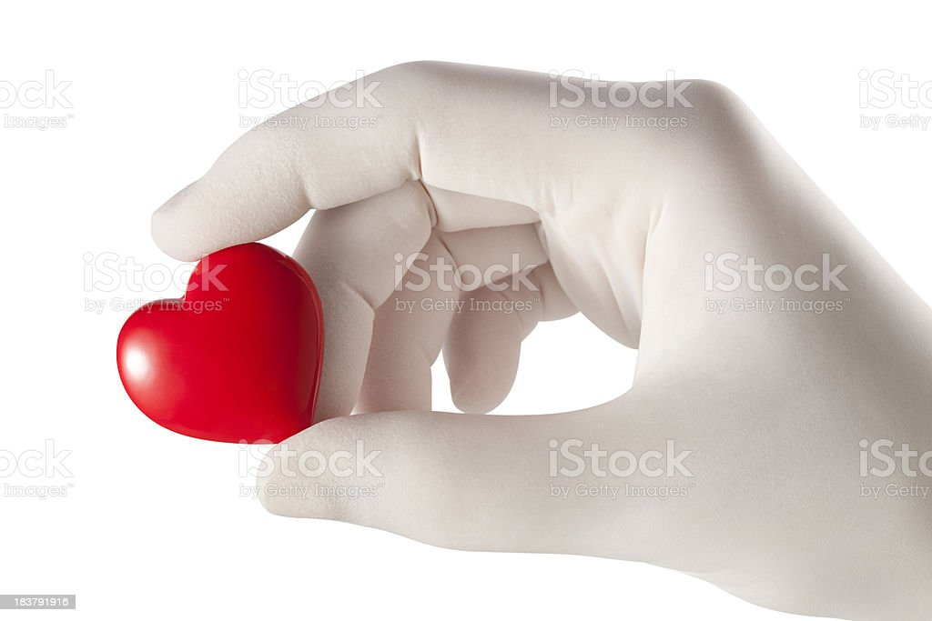 Medicine. Heart in hand. royalty-free stock photo