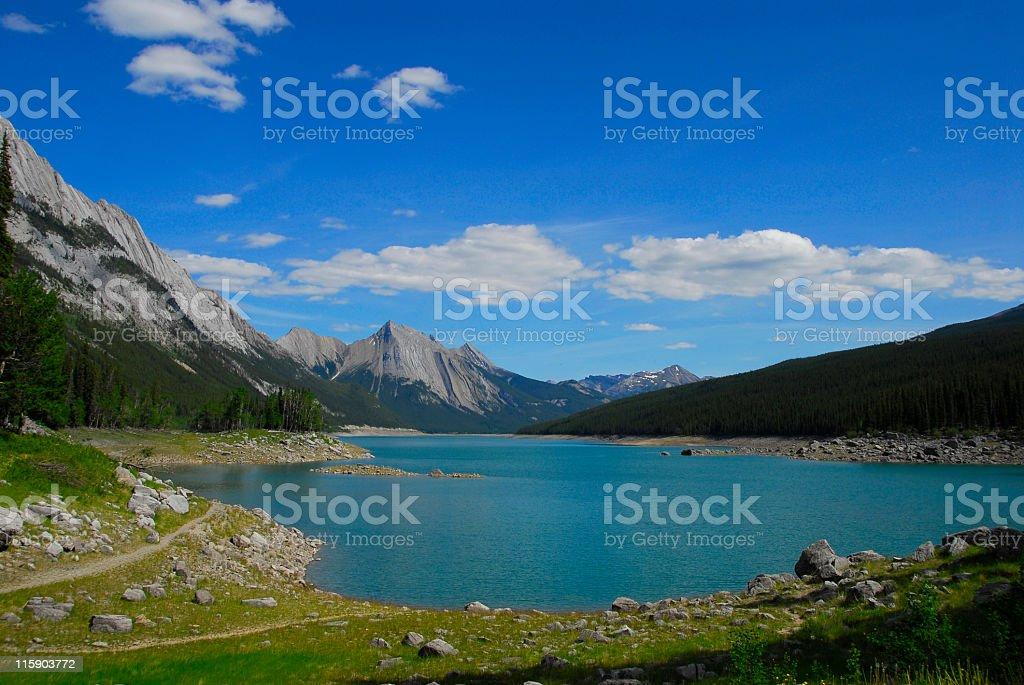 Medicine Lake in Jasper National Park,Alberta, Canada royalty-free stock photo