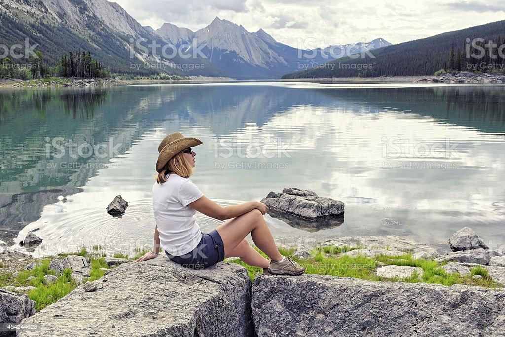 Medicine Lake royalty-free stock photo