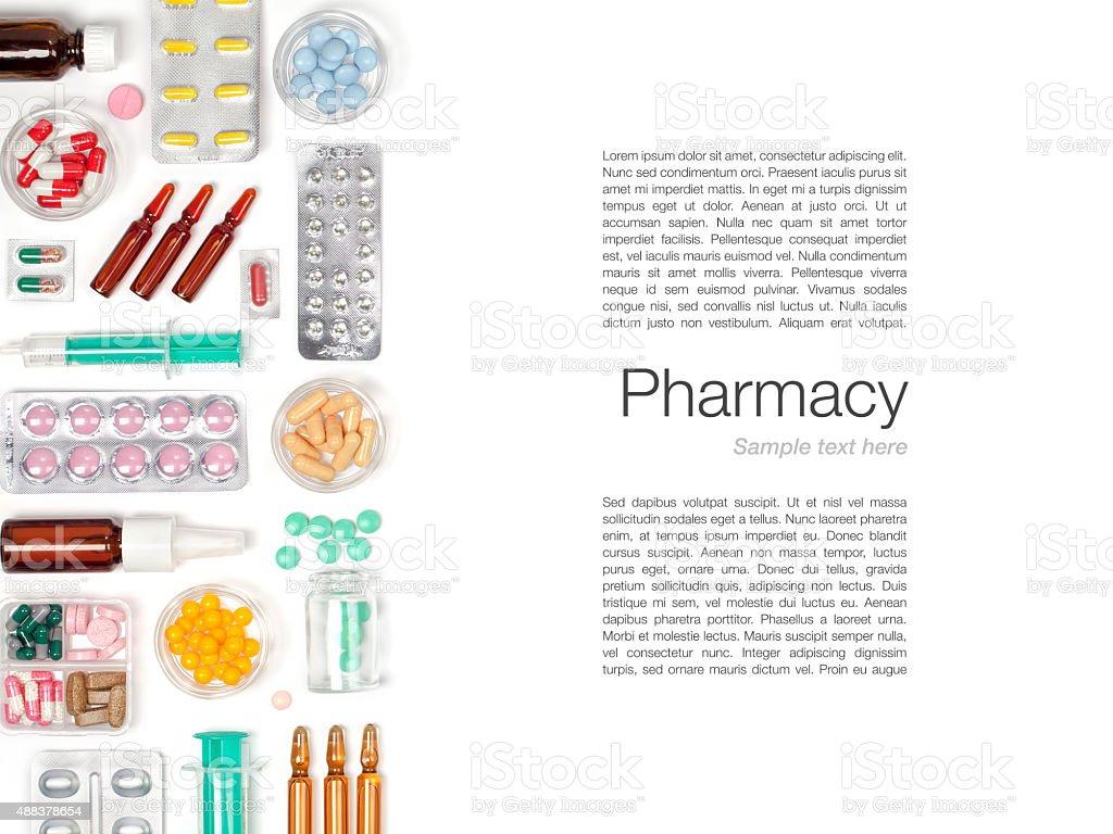 medicine on white background stock photo