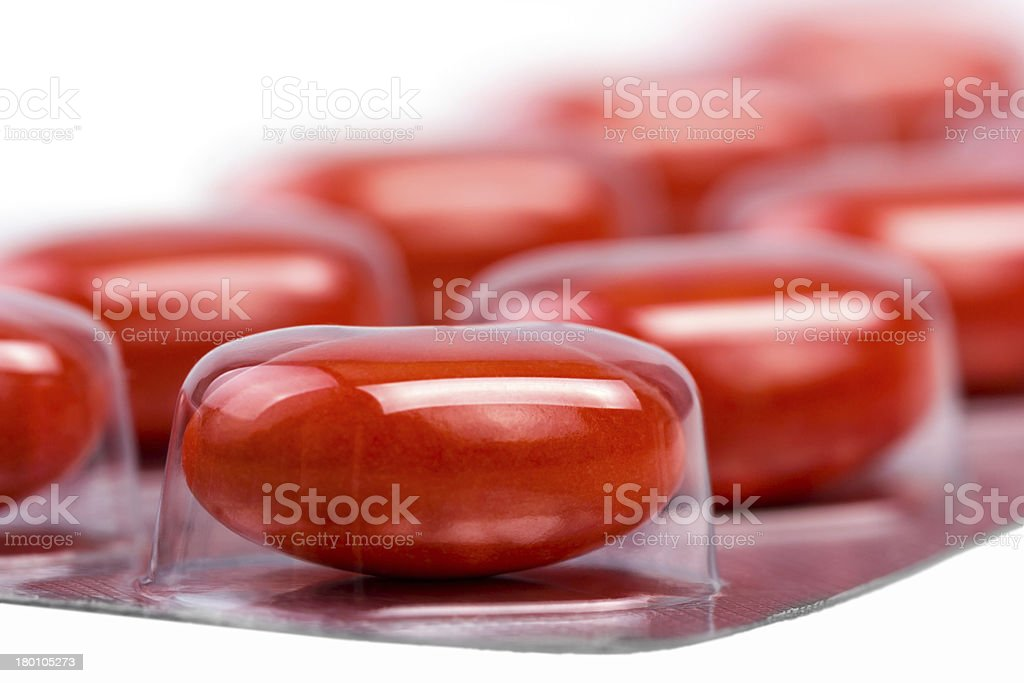 Medicine pills packed in blisters royalty-free stock photo