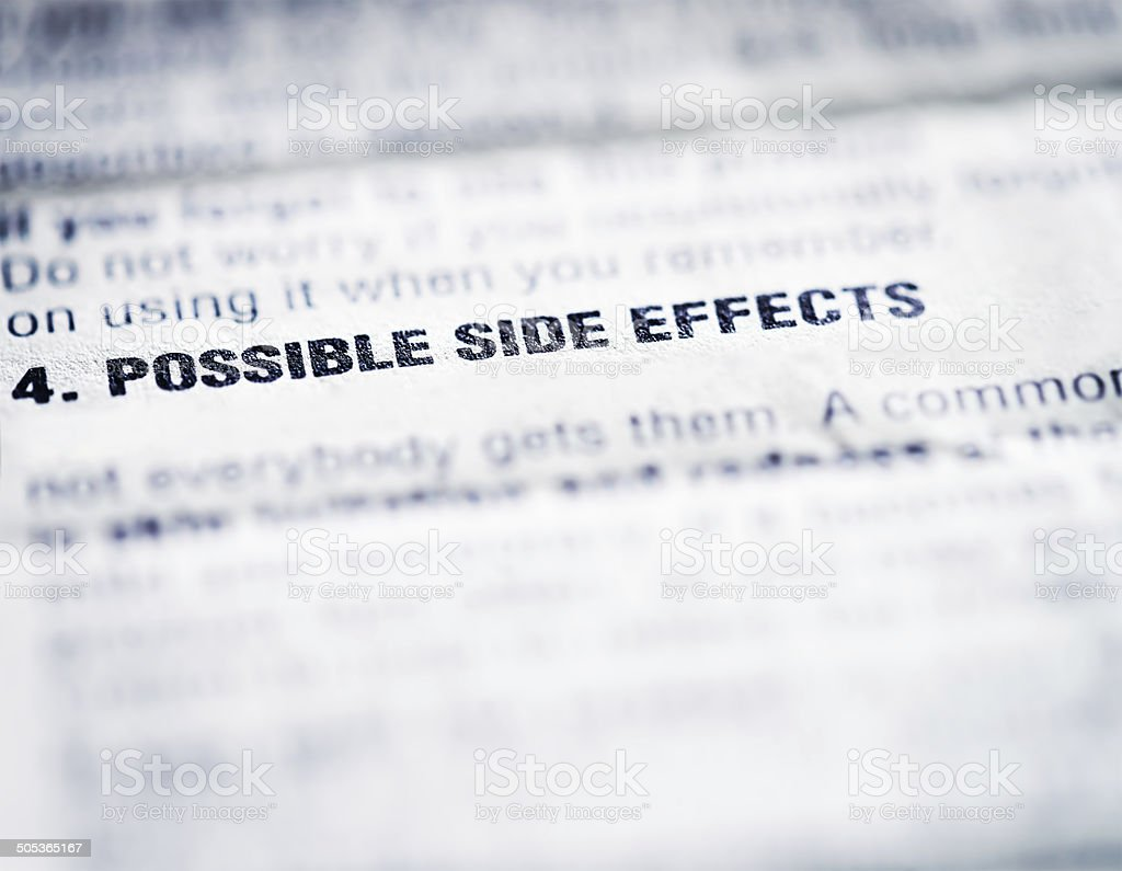 Medicine: Possible Side Effects stock photo