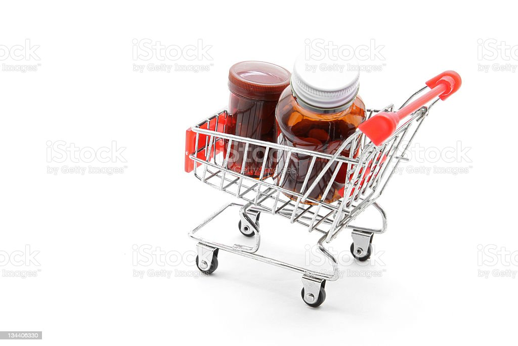 medicine shopping royalty-free stock photo