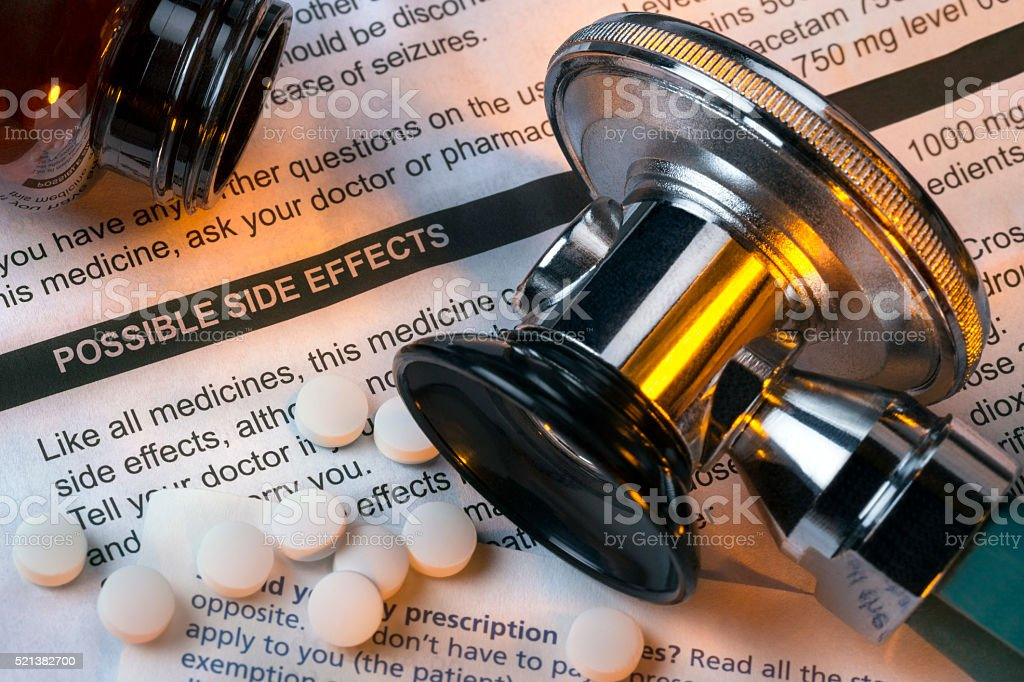 Medicine - Side Effects - Drugs stock photo