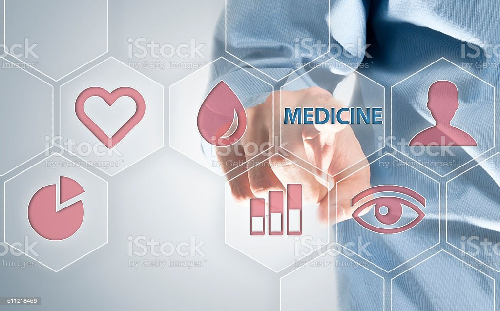 Medicine / Touch screen concept (Click for more) stock photo